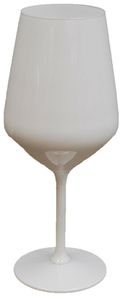 Set of 6 LARGE White Glass Wine Glass Red Wine Glass Gin Glass 530ml Capacity