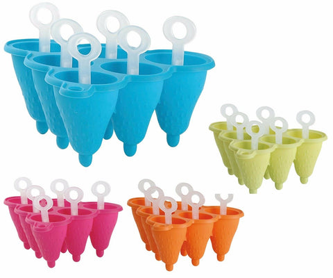 Ice lolly mould. Make 6 ice pops container with Silicone Ice lolly Mould & stick