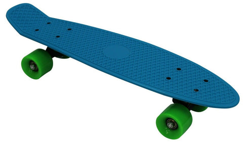 Ultimate Skategear 58cm Skateboard 23inch Blue With Green Wheels Complete