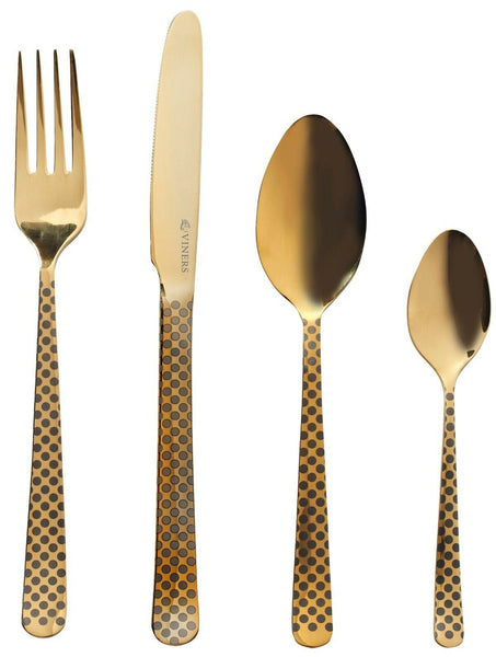 Viners Eminence Gold Stainless Steel 16 Piece Cutlery Set 18/10 Gift Box