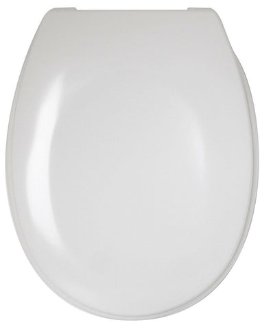 "Sabichi 18"" Classic Soft Close Plastic White Toilet Seat All fittings Included"