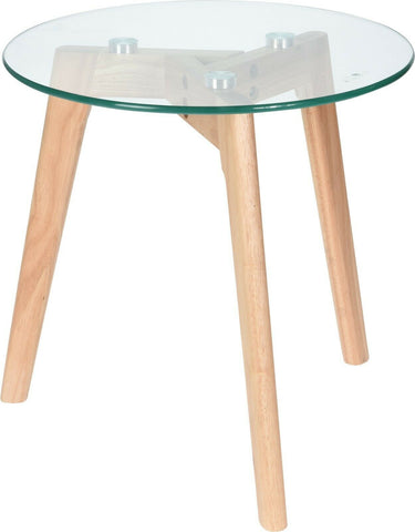 40cm Round Glass Coffee Table Side Table 40cm Height