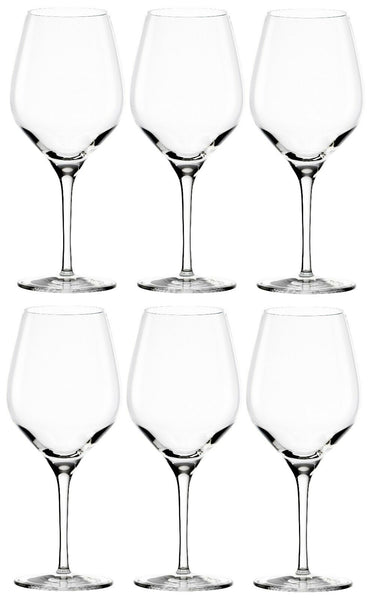 Stölzle Set of 6 Red Wine Glasses Large wine glasses 480ml Lead free crystal