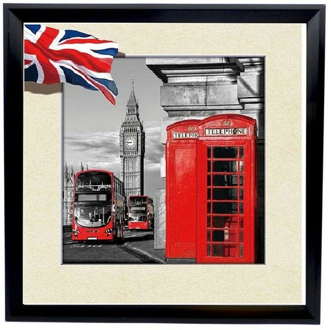 Amazing Lifelike 5d Framed Wall London Picture 40 x 40 cm Large Wall Canvas