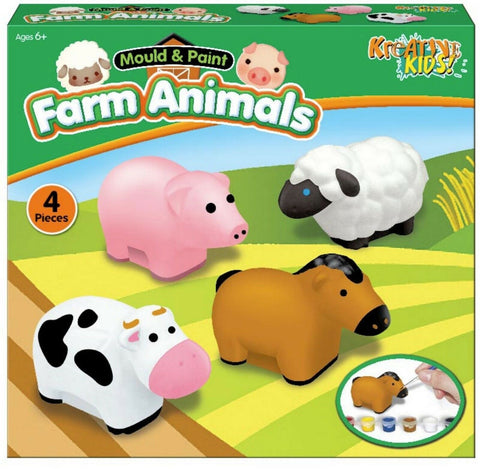 Make Your Own Farm Animals Craft Set Mould & Paint