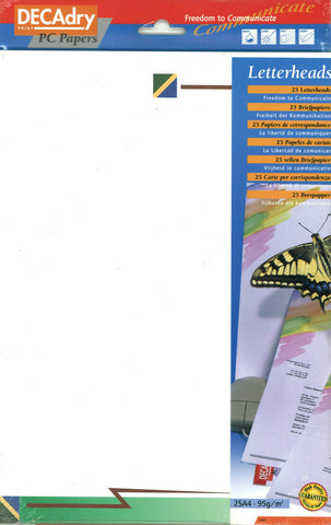 Decadry SCL 2053 Green Flash Themed A4 Writing Paper Letterhead Scrapbooking