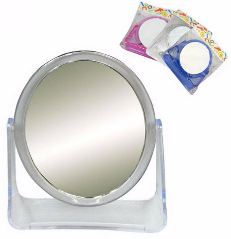 Double Sided Compact Travel Shaving Makeup Mirror Magnified