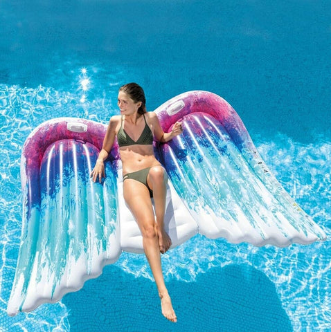 Intex Giant Swimming Pool Inflatable Float For 2 People Massive 8ftt Angel Wings