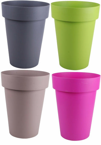 Large Plant Pots. Massive 40 Litre 50cm Tall Plant pot Planters Green Mocha Grey