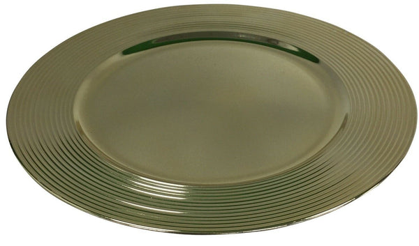 Set of 4 Gold Charger Plates Under Plates 33cm Elegant Range With Rippled Design