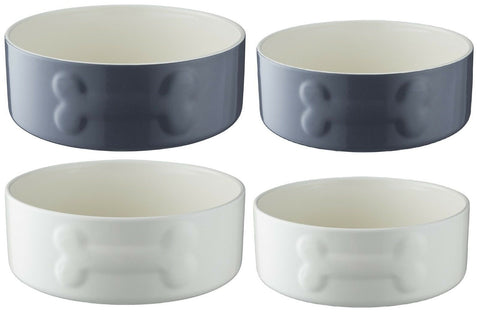 Mason Cash Ceramic Pet Bowl Dog Bowls Large & Medium 20cm & 15cm Pet Bowls