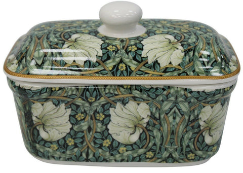 Leonardo Collection Fine China Butter Dish Floral William Morris Pimpernel