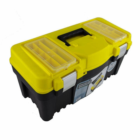 Large Strong Plastic Tool Box / Fishing Box With Carry Handle. Indoor or outdoor