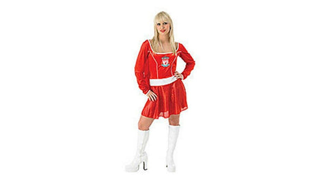 Liverpool Ladies Football Fancy Dress Christmas Costume Dress Cape