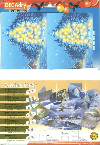 Decadry SPZ 6392 Welcome Christmas Greeting Cards Make Your Own Cards