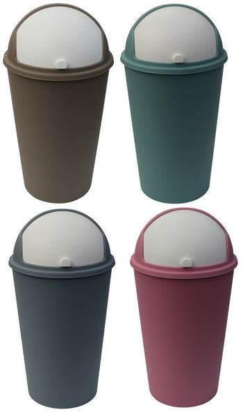 25 Litre Bright Coloured Swing Top Lid Dustbin For Kitchen Home Bathroom Office
