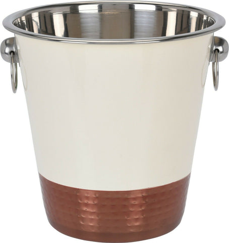 5 Litre Champagne Bucket Stainless Steel Large Ice Bucket Wine. Cream & Copper