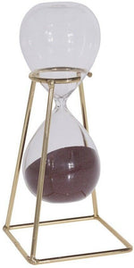 15 Minute Sand Timer Hour Glass Sand timer Retro Timer On Gold Metal Stand
