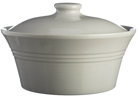 Mason Cash 2.5 Litre Oven Safe Casserole Dish With Lid Grey