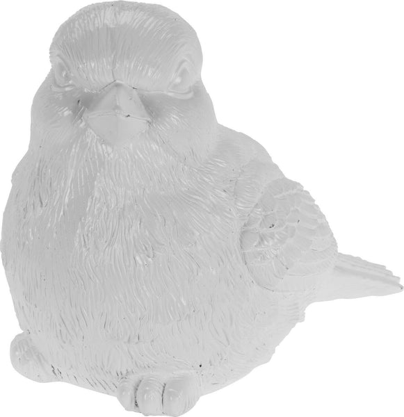 Large 35cm White Bird Garden Ornament Indoor Outdoor Pond Feature