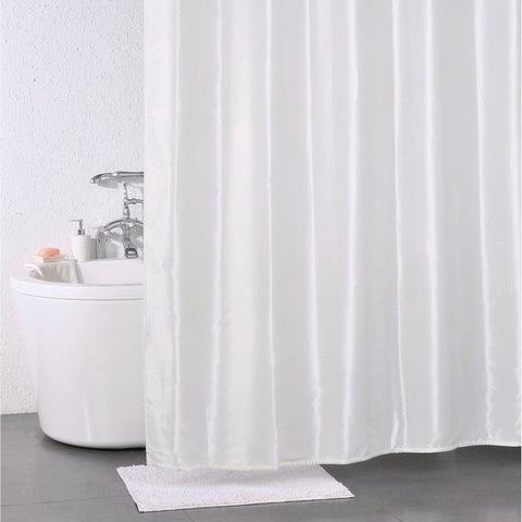 Polyester Solitaire Cream Effect Shower Curtain 180 x 180cm Including 12 hooks