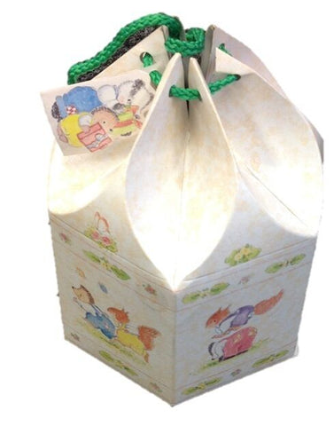 Pack of 20 Cardboard gift boxes Gift Bags with Card and String Birthday Bags