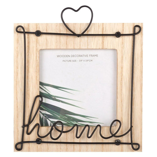Home Decor Photo Frame Wooden Metal Wire Decorative Home And Heart Picture Frame