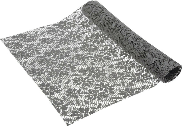 Grey & Cream Table Runner 1.5 Meters Long Elegant (5ft Length) x 45cm Wide