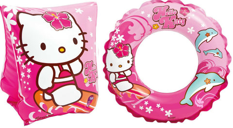 Hello Kitty Swimming Armbands and Rubber Ring Hello Kitty Design Pink Arm Bands