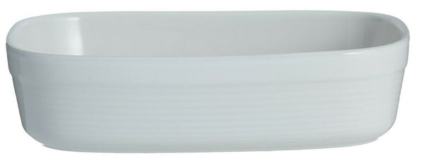 Mason Cash Rippled Rectangle Roasting Oven Dish White Pie Dish 24cm Dish