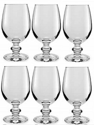 Libbey Essenza Set of 6 Clear Glass Wine Goblets 240ml Whiskey Brandy Glass