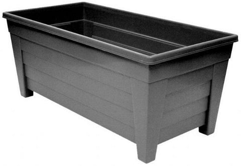 Large 55cm Long Garden Planter Plant Pot Plastic Trough Raised Planter Black