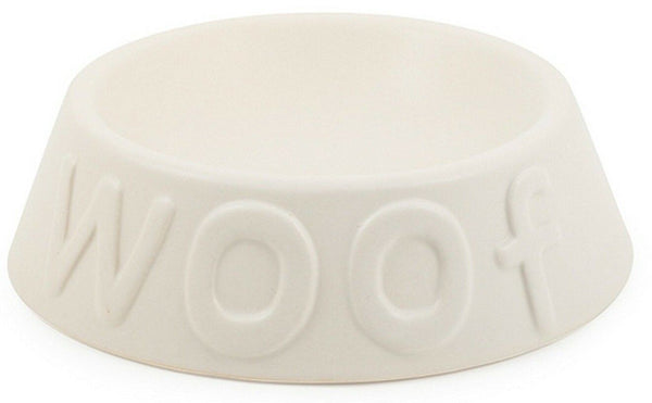 Ancol Ceramic Matt White Dog Bowl Dog Feeding Bowl for water or food