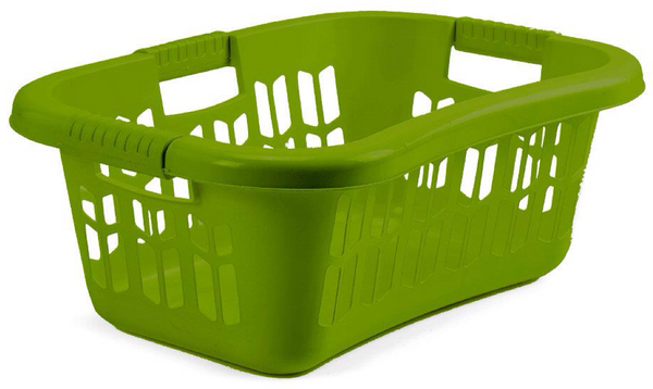 Large Green Stackable Strong Ergonomic Hip Laundry Washing Basket & Handles