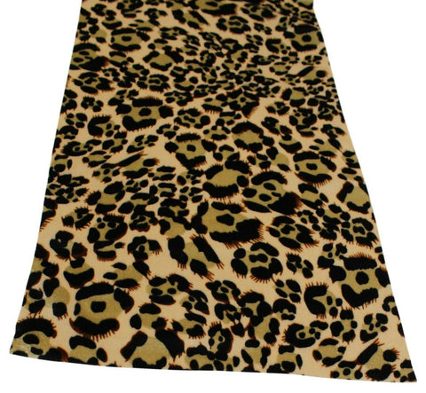 Jaguar Print Fabric Table Runner 2 Meters Long Elegant (over 6ft Length)