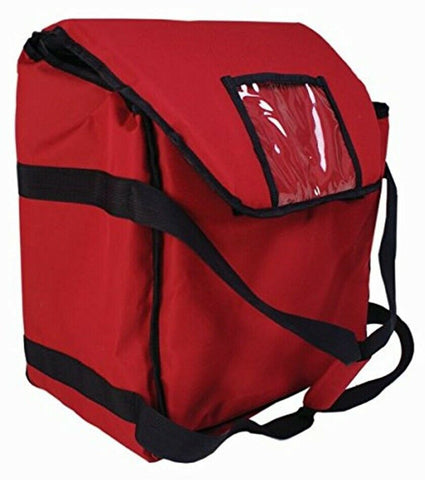 Thermal Insulated Pizza Bag Takeaway Delivery Bags RED LARGE 51cm x 12.5cm