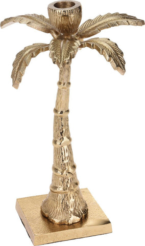 25cm Tall Gold Palm Tree Candle Stick Original Unique Gold Candle Holder