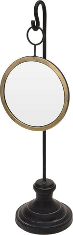Large Tall Dressing Table Hanging Mirror Make Up Mirror Gold With Black Base
