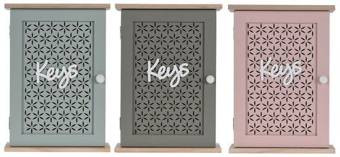 Key Cabinet Holds 6 Bunches of Keys Free Standing or Wall Hung Grey or Pink