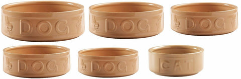 Mason Cash Cane Pet Bowl Stoneware Heavyweight For Dogs & Cats Small - Large