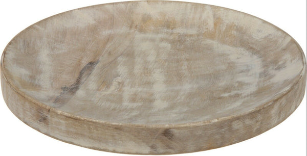 22cm Wooden Candle Plate Wood Decor Plate Serving Plate