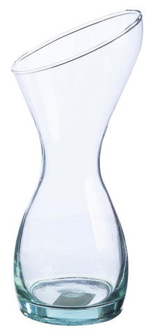 Ravenhead 30cm Waisted Vase Glass Flower Vase Hourglass Shaped Flared Vase
