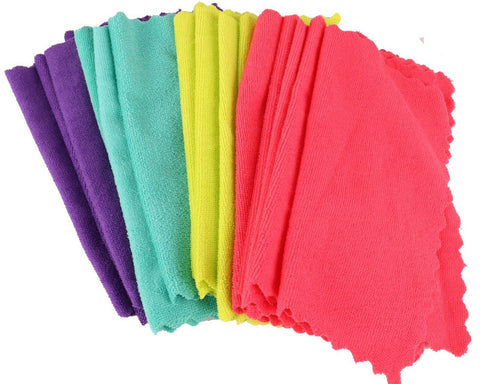 Pack of 20 Microfibre Cloths. Pack of 20 Bright coloured cloth 30cm x 30cm