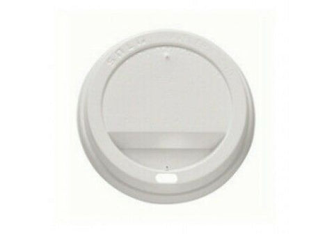600 X Disposable White Plastic Round Coffee Cup Sip Lids (100 Per Sleeve)