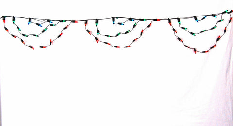 Christmas Lights Multi Coloured 80 Curtain Drape Indoor / Outdoor Static 0586