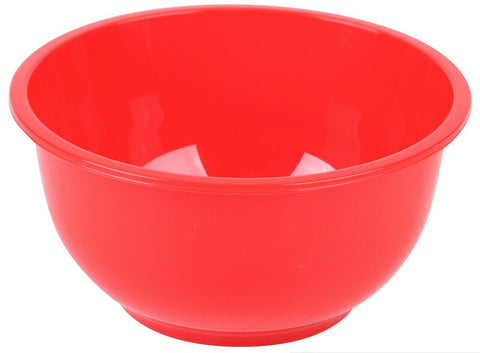 Set of 6 Bright Red Plastic Cereal Bowls Soup Bowls For Home Camping or Picnic