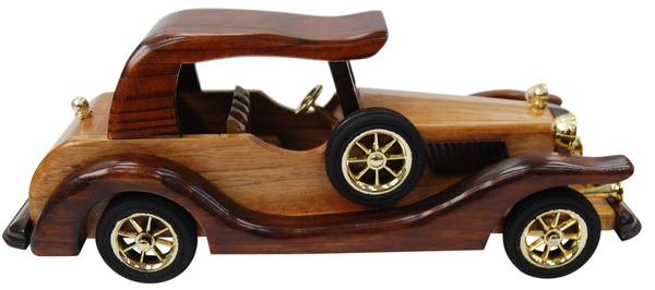 30cm Large Wooden Car Model Retro Design Intricate Finnish Design 01