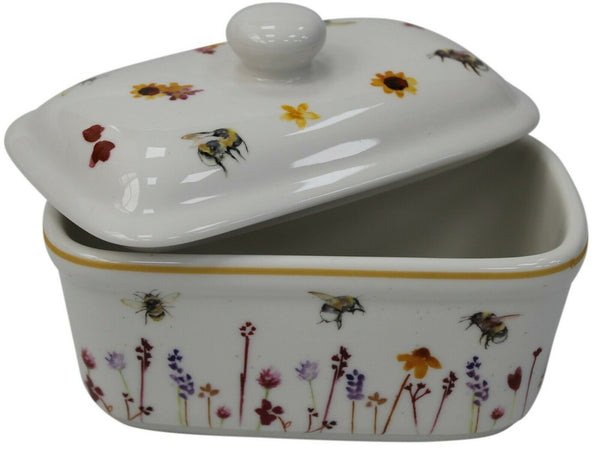 Leonardo Collection Fine China Butter Dish Busy Bees Jennifer Rose Gallery