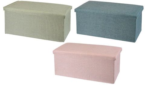 Ottoman Large Pouffe Storage Box Can be Sat On up to 150kg Green Blue Pink