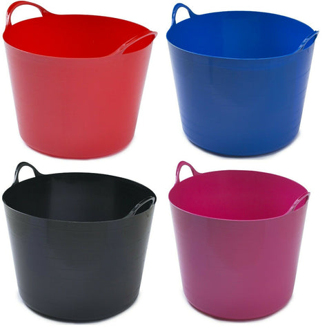 26 Litre Flexi Tub Bucket Storage Log Basket Builders Bucket Bulk Pack x 10
